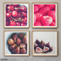 3D juniqe fruit set framed