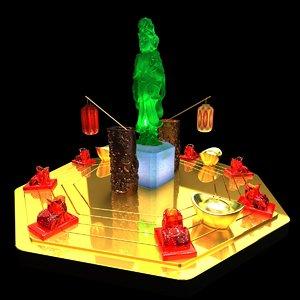 chinese kids vase gold ingot 3D model