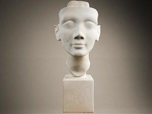 3D nefertiti sculpture scan