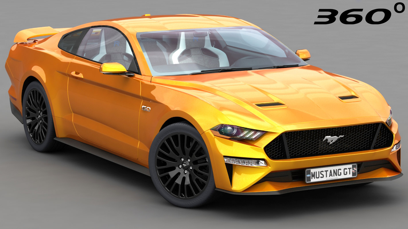 Ford mustang gt 2018 2019 3d model