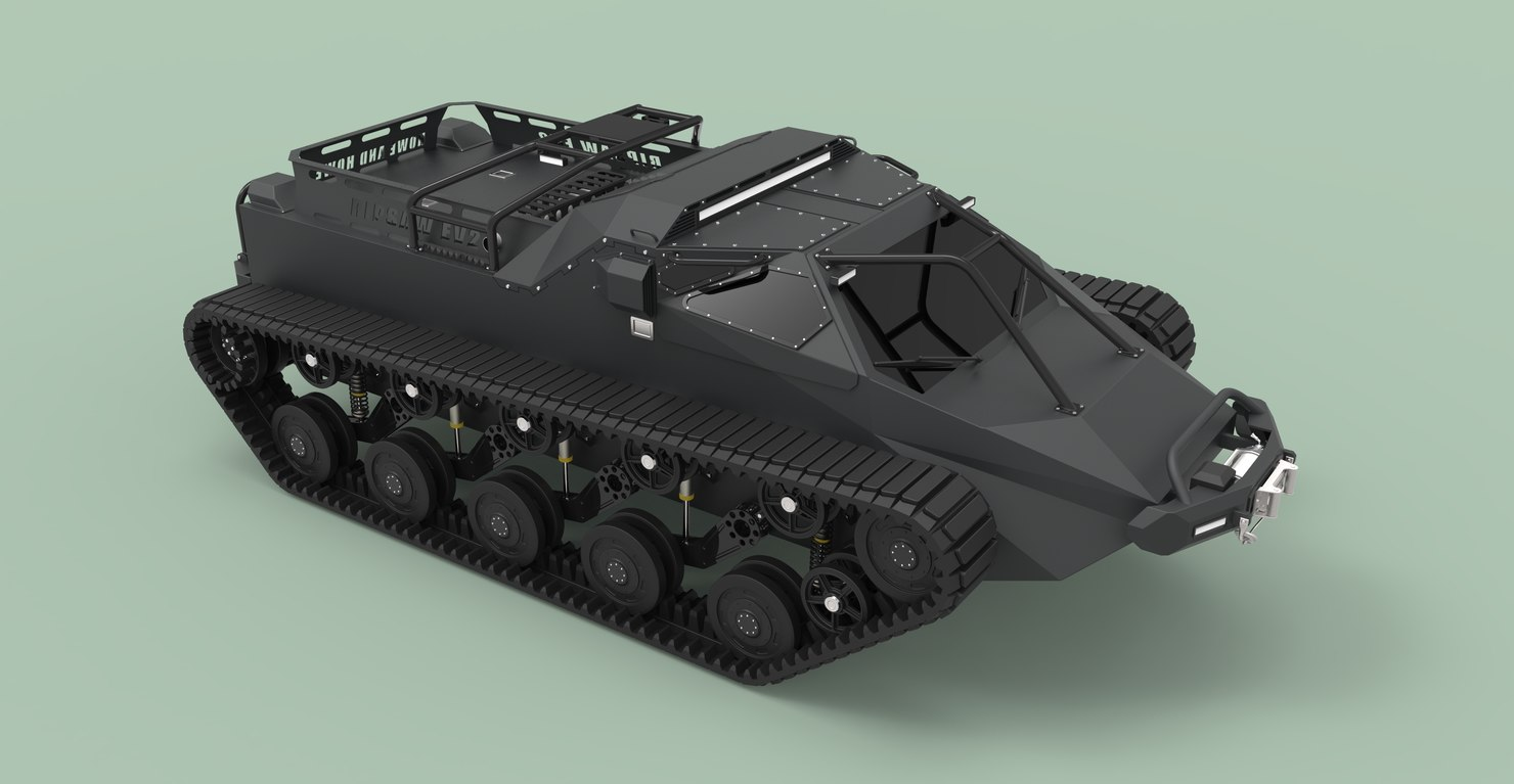 3D model ripsaw tank extreme