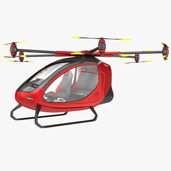 3D electric passenger drone model