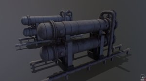 pbr double heat exchanger 3D model