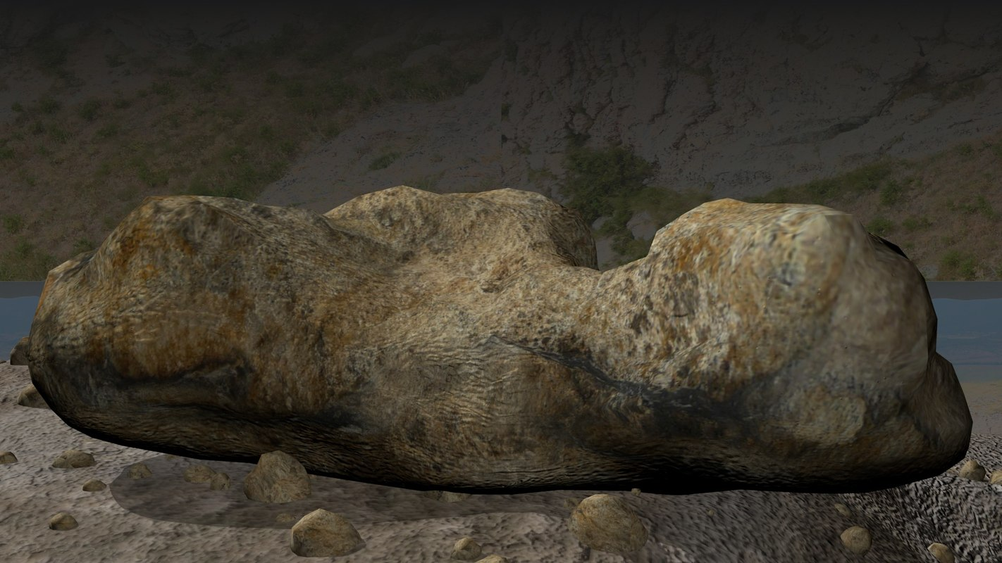 realistic rock landscape model