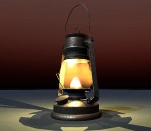 oil lantern 3D model