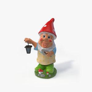 3D gardener gnome