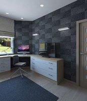 3D room table sofa model