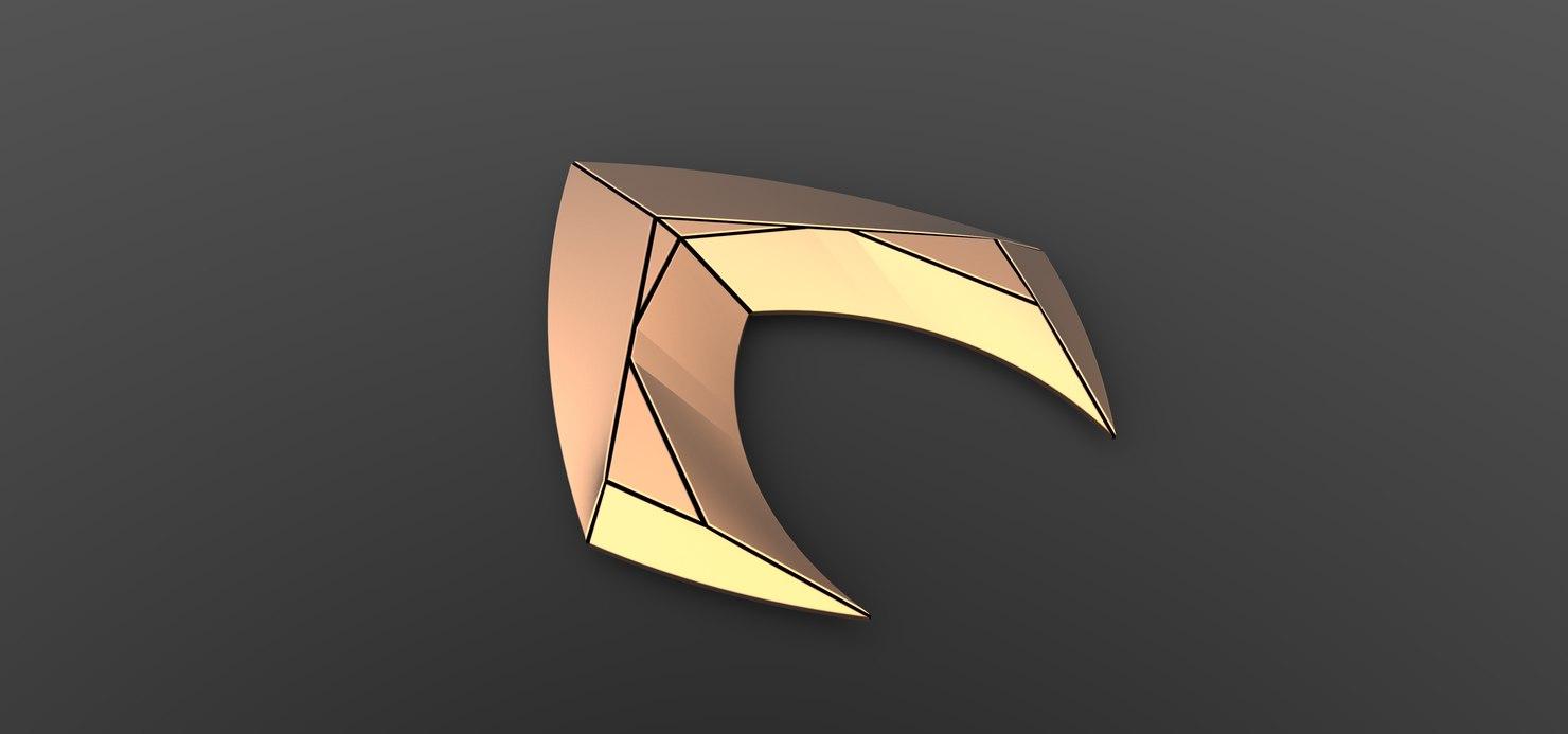 aqua logo 3D model
