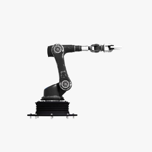 3D industrial robotic arm pbr