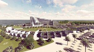 hotel resort 3D model