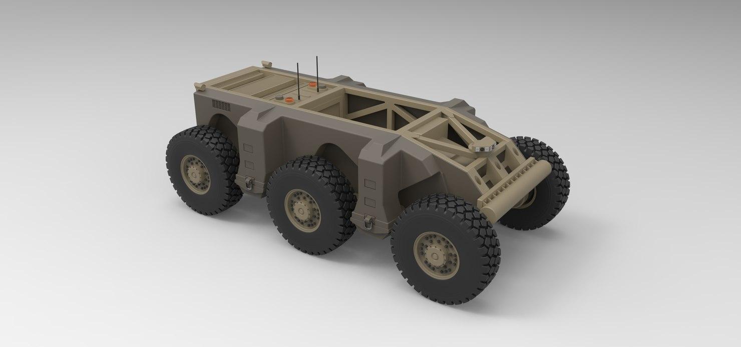 crusher ground combat 3D model