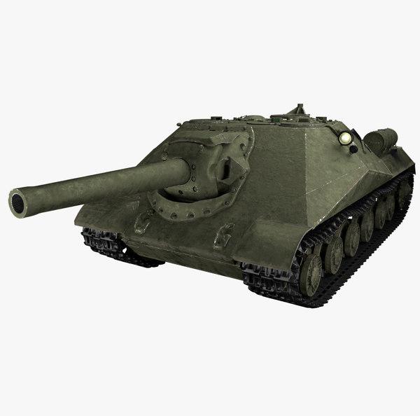 3D soviet tank hunter - model