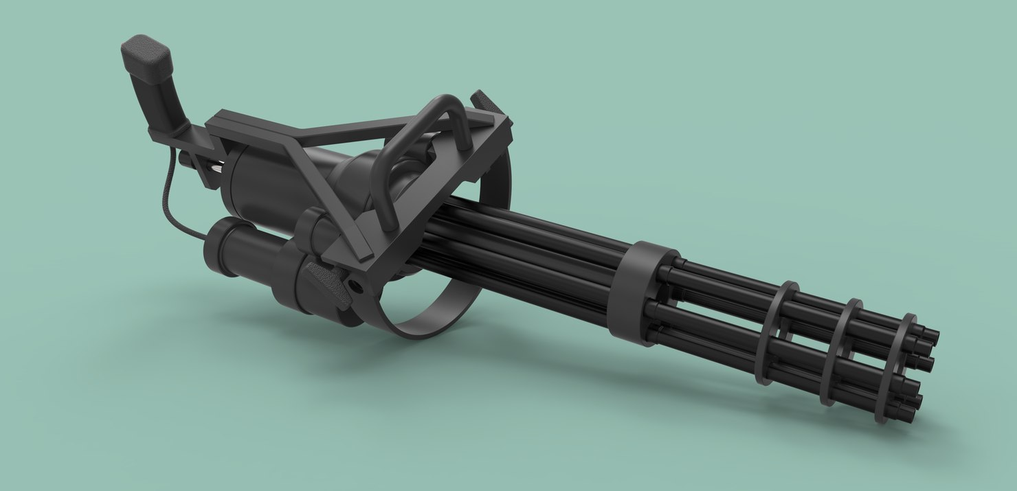 m134 weapon gun machined 3D model