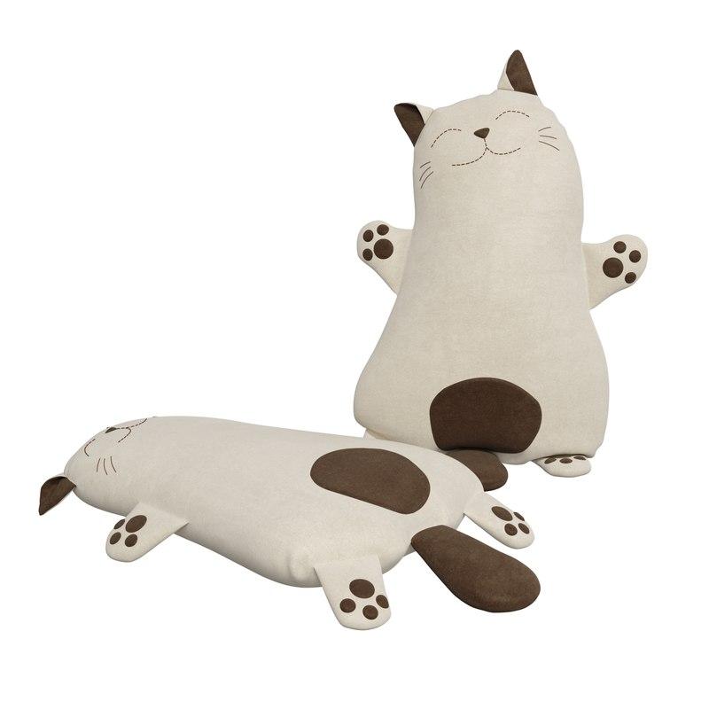 3D pillow cat model