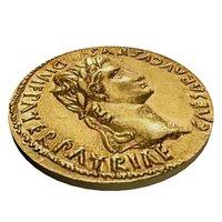 3D roman coin augustus