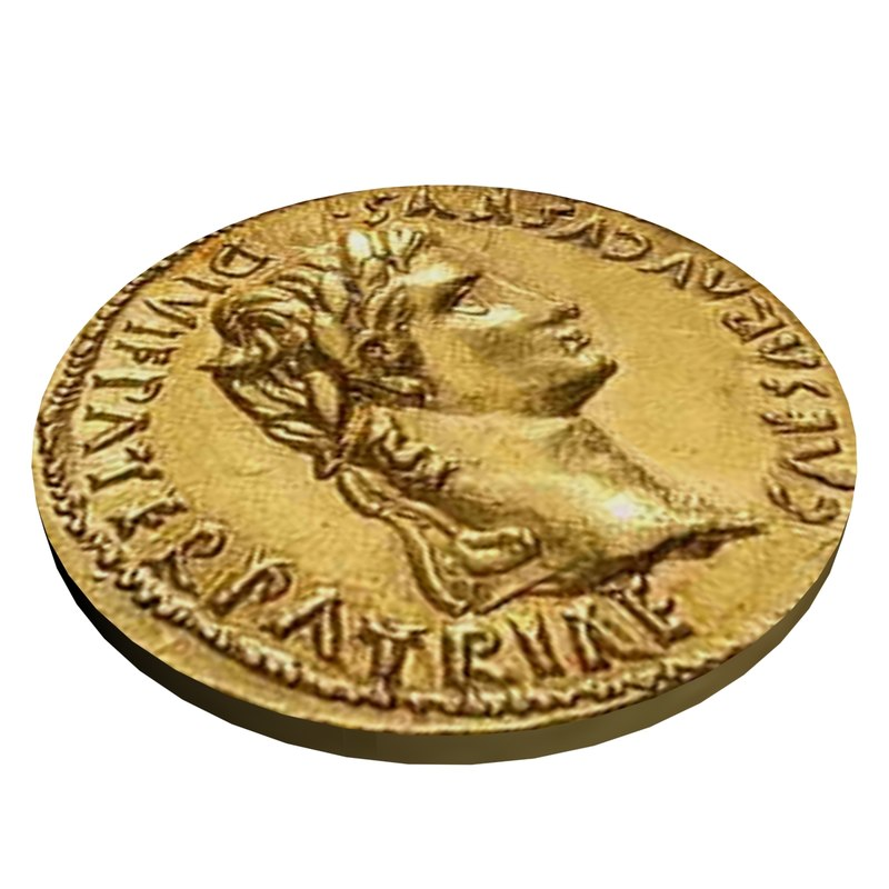 Roman coin Augustus