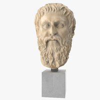 plato head sculpture 3D