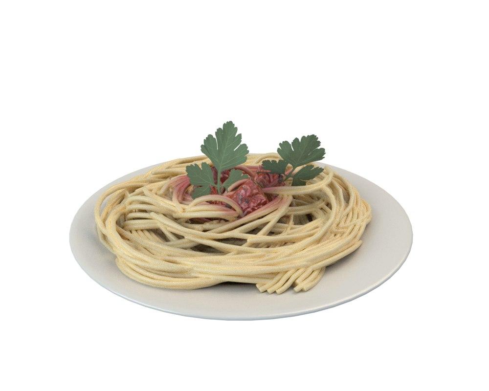 plate pasta 3D model