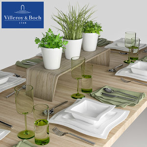 3D table setting villeroy boch model