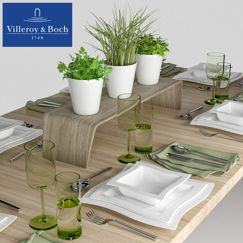 3D table setting villeroy boch model