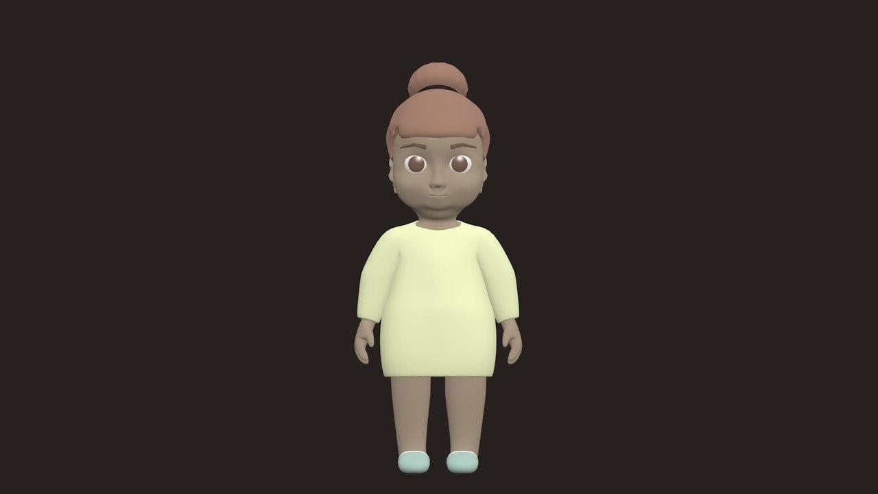 girl character model