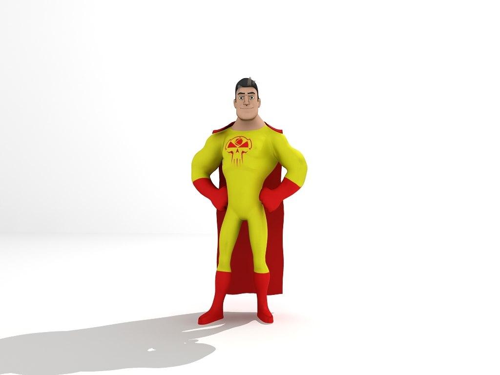 3D super hero