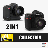 Professional DSLR Cameras Nikon Collection