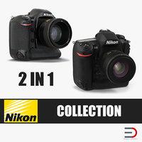 professional dslr cameras nikon 3D model