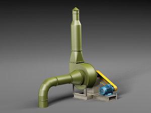 3D industrial ventilation model