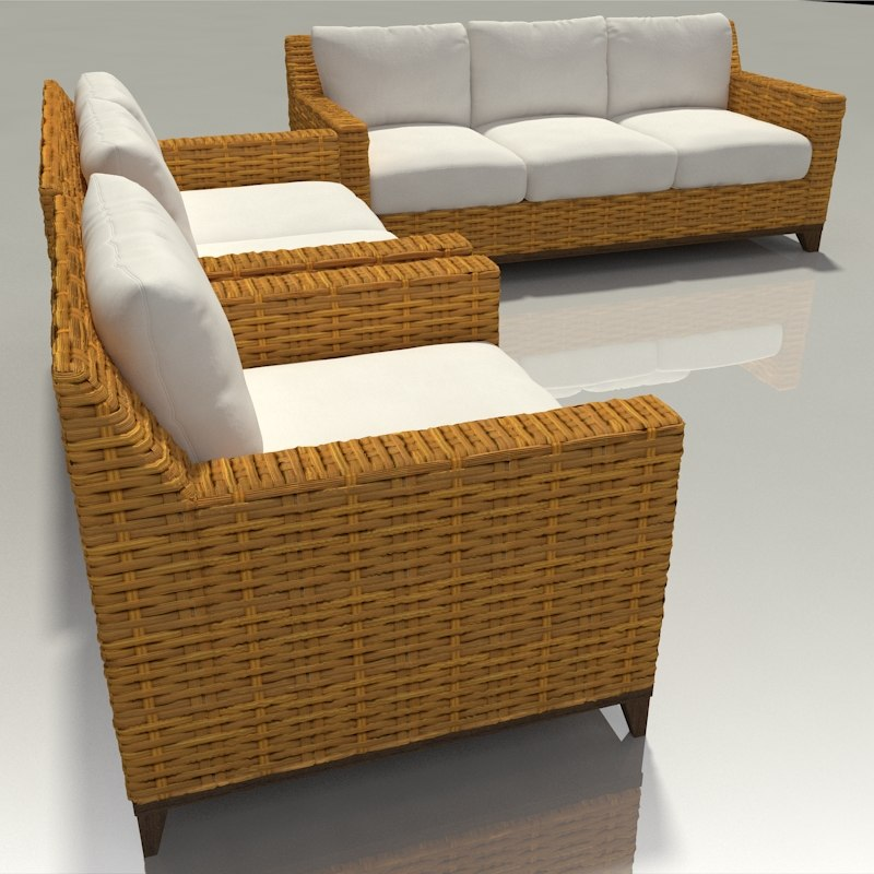 wicker couch chairs patio furniture model