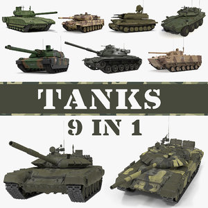 tanks main battle 3D