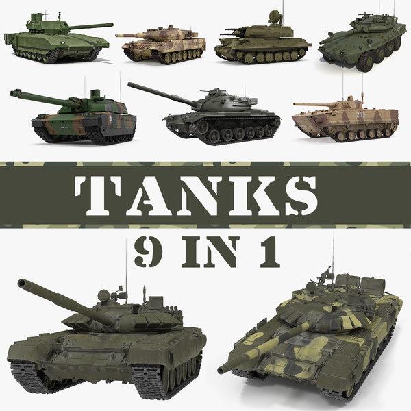 tanks main battle 3D