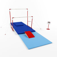3D gymnastic equipment bars model