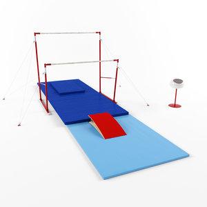 3D gymnastic equipment bars model