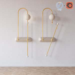 wires wall sconce 3D model