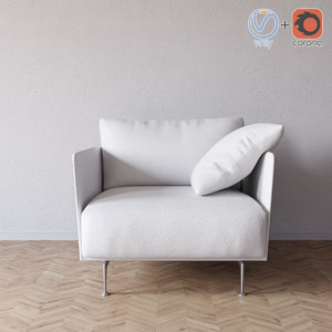 3D model liuto armchair valdichienti