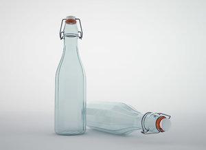 glass bottle 3D model