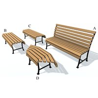 3D usual bench b c
