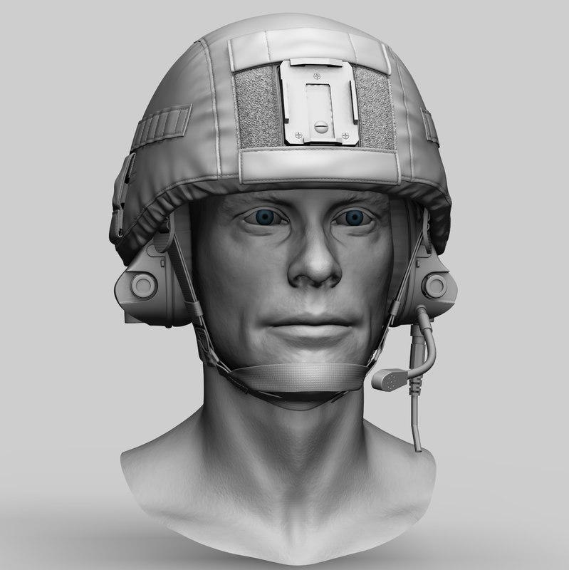 russian special forces helmet 3D model