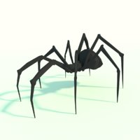 Low Poly Spider Design