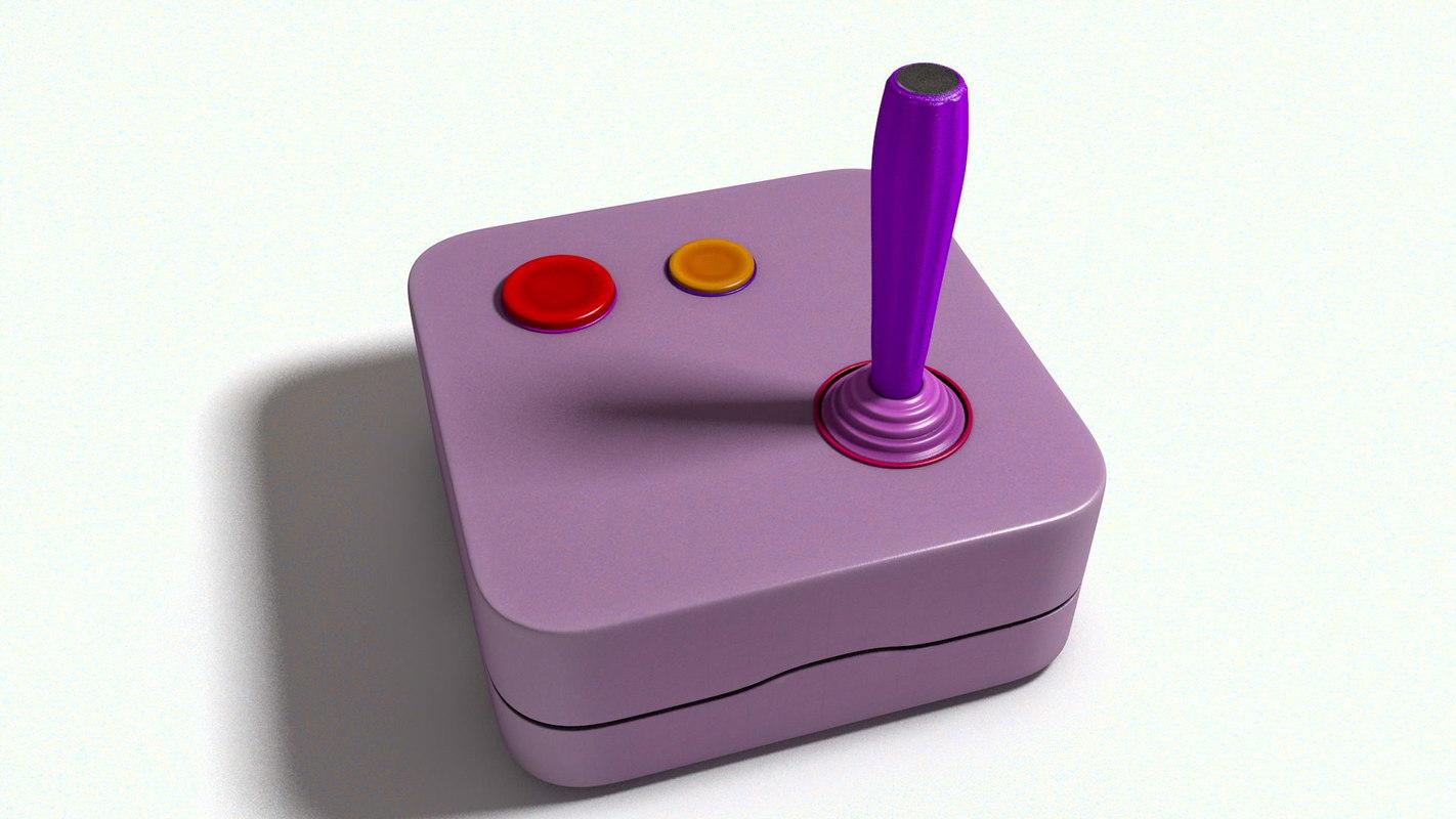 3D pink joystick