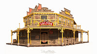 old wild west saloon 3D model