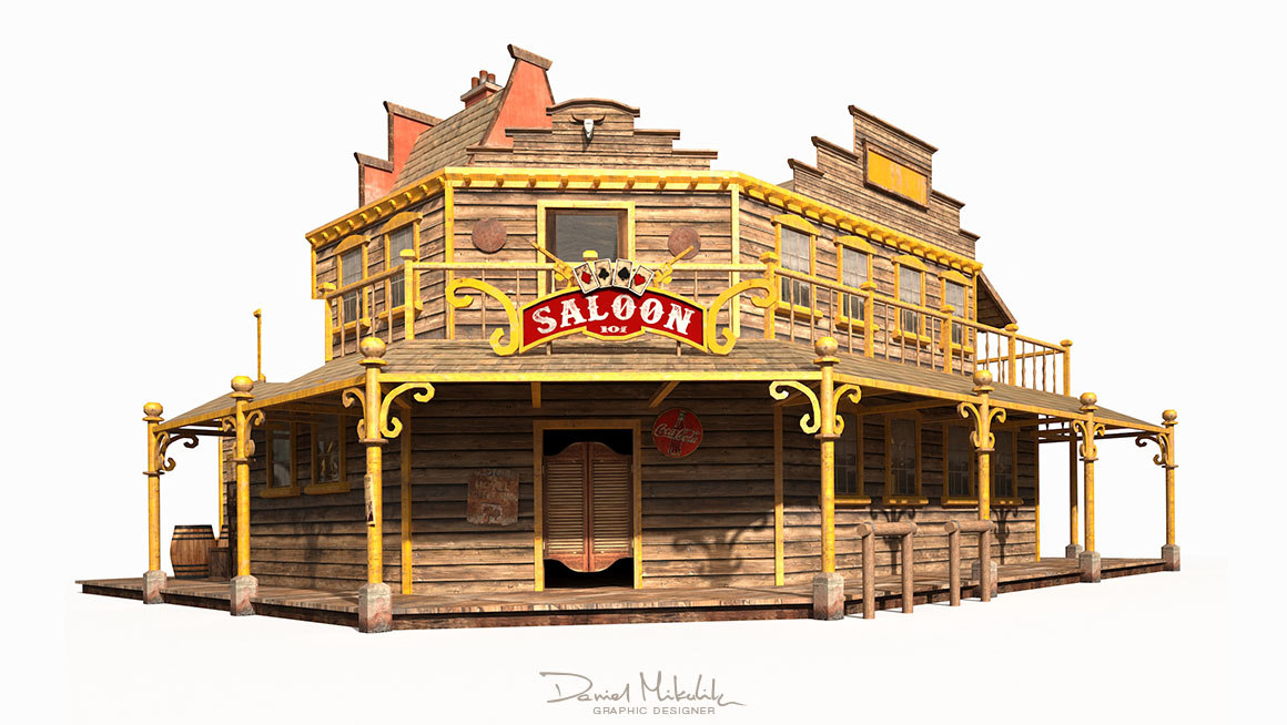 Old west saloon model pictures to pin on pinterest thepinsta for 3d model viewer