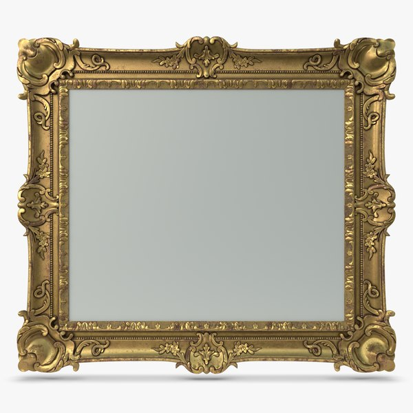 baroque frame 3D model