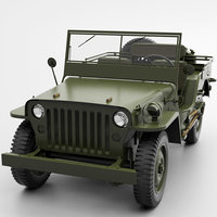jeep willys hp lp 3D model
