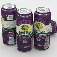 beer somersby 3D model
