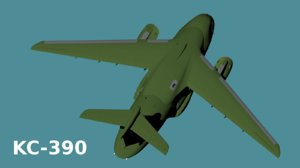 kc-390 3D model