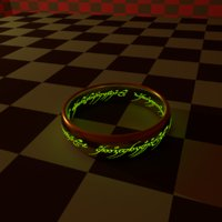 3D ring lord hobbit