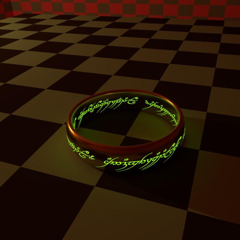 3D ring lord hobbit