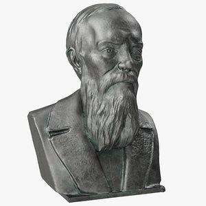 3D model fyodor dostoyevsky bust